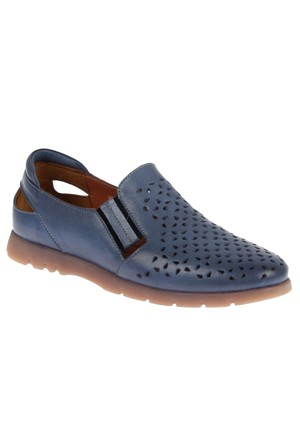 Beety 14152 Kot Mavi Hakiki Deri Bayan Ayakkabı