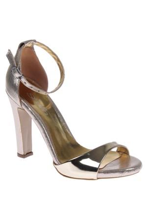 Shalin Tlg 15 Altın Bayan Sandalet