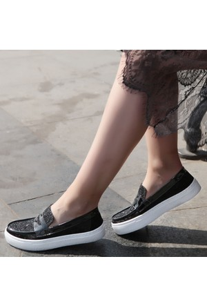 Shalin Lfm 16 Siyah Pul Bayan Ayakkabı Spor