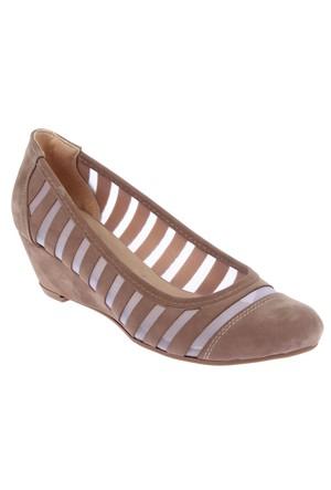 Beety 317 Vizon Dolgu Topuk Bayan Ayakkabı