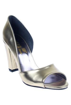 Shalin Szr Anna Altın Bayan Ayakkabı Topuklu