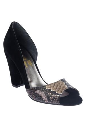 Shalin Szr Anna Kahve Yılan Bayan Ayakkabı Topuklu