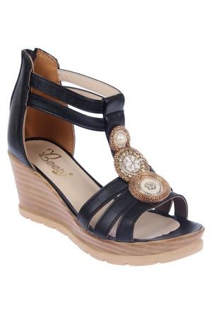 Beety Bty 3022 Siyah Kadın Sandalet