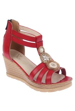Beety Bty 3022 Kırmızı Kadın Sandalet