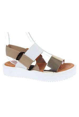 Shalin Szr 750 Altın Hakiki Deri Kadın Sandalet