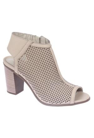 İloz Snj 123604 Bej Hakiki Deri Kadın Sandalet