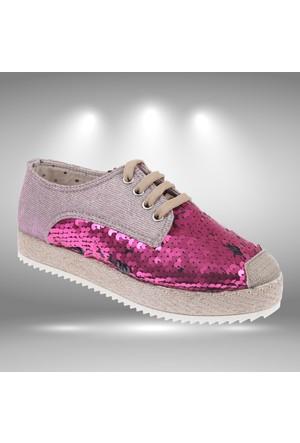 Shalin 040 Fuşya Kadın Ayakkabı Kadın Espadril Ayakkabı