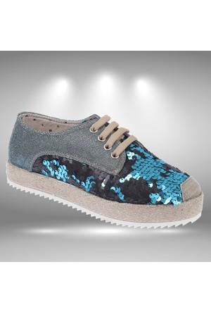 Shalin 040 Mavi Kadın Ayakkabı Kadın Espadril Ayakkabı