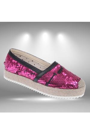 Shalin 252 Fuşya Kadın Ayakkabı Kadın Espadril Ayakkabı