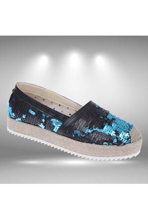 Shalin 252 Mavi Kadın Ayakkabı Kadın Espadril Ayakkabı
