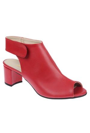 Shalin Bşk Michelle Kırmızı Kadın Sandalet