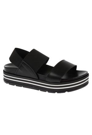 Shalin Szr 123 Siyah Kadın Dolgu Taban Sandalet