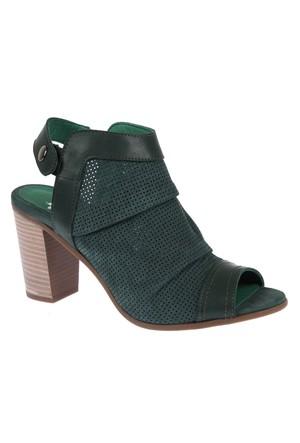 İloz Snj 123680 Yeşil Nubuk Hakiki Deri Kadın Ayakkabı