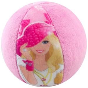 barbie desenli velboa peluş top pembe
