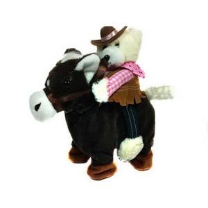 vardem oyuncak 1108jx kt.kovboy peluş ayı ve at