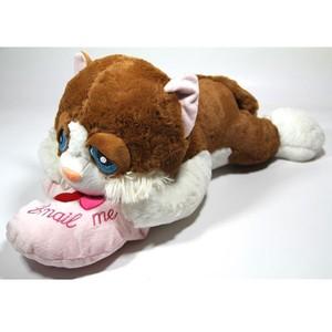 vardem oyuncak 28951e 29 peluş yatan kalpli kedi 29cm
