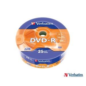 verbatim 43808 dvd-r 16x 4.7gb matt silver 25 li