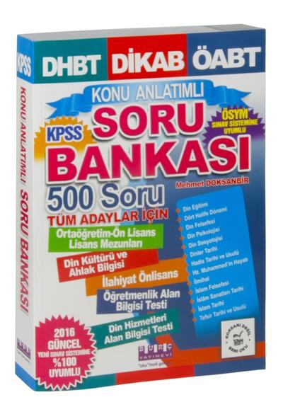 Burç Yayınları Dhbt, Dikab, Öabt, Kpss Konu Anlatımlı Soru Bankası 500 Soru
