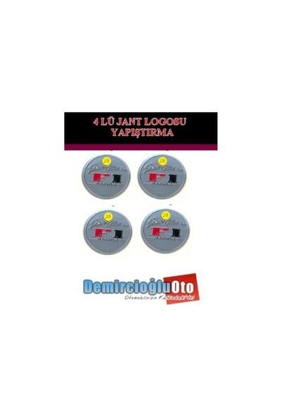 Demircioğlu F-1 Logolu Aluminyum Jant Göbeği Logo 4'lü Yapıştırma Otdmspc06