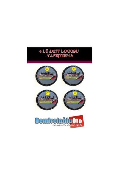 Demircioğlu Hks Logolu Aluminyum Jant Göbeği Logo 4'lü Yapıştırma