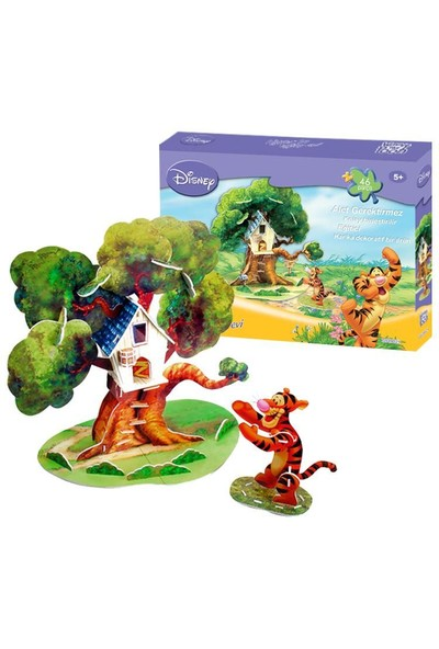 Cubic Fun 3D 46 parça 3 Boyutlu Puzzle Tigger'ın Ağaç Evi