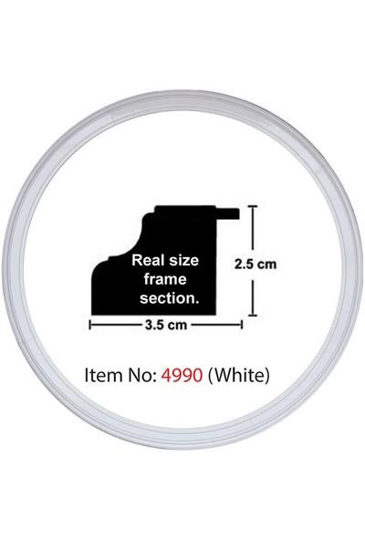 Educa Heidi Daire Çerçeve Beyaz 3.5 Cm 4990