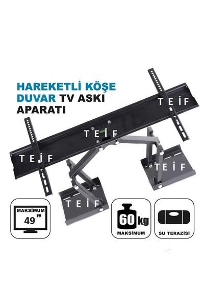 Teif 49'' Terazili Lcd / Led Tv Köşe Ve Duvar Tipi Askı Aparatı