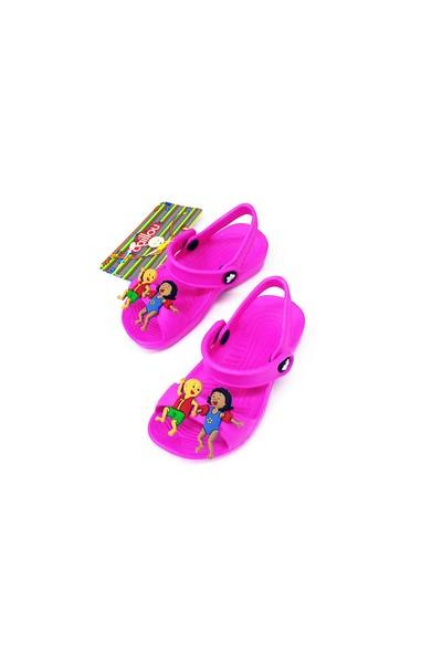 Caillou Sandalet Kız Çocuk Terliği Fuşya 2-7 Yaş İçin 21-22 Numara