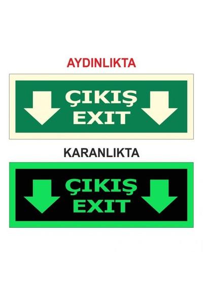 """Modülerteknik """"Fotolümen Çıkış Exit"""" 15X30cm"""
