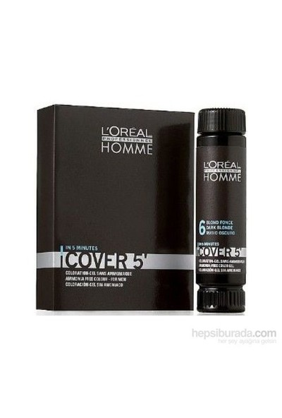 L'Oréal Professionnel Homme Cover 5 Jel Saç Boyası 50Ml No 3-Koyu Kestane (Koyu Kahve)