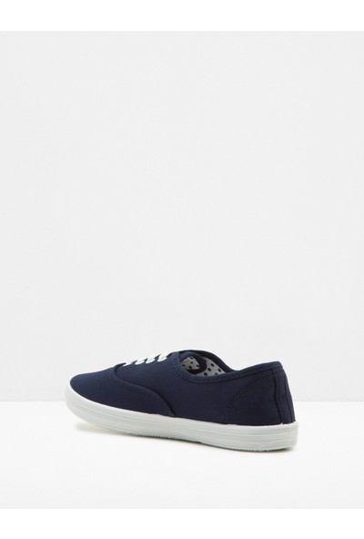 Ole Kadın Bağcıklı Ayakkabı Lacivert - Mavi