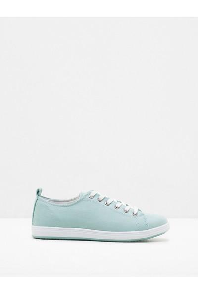 Ole Kadın Bağcıklı Ayakkabı Yeşil