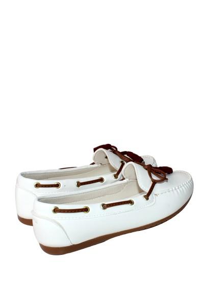 Zerrin Ayakkabı Beyaz Günlük Biyeli Bayan Ayakkabı-609994