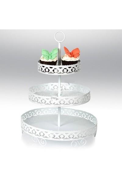 Tahtakale Toptancısı Metal Cupcake Standı 3 Katlı Kek Standı