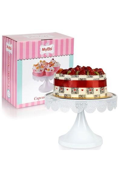Tahtakale Toptancısı Metal Cupcake Standı Beyaz Kek Standı