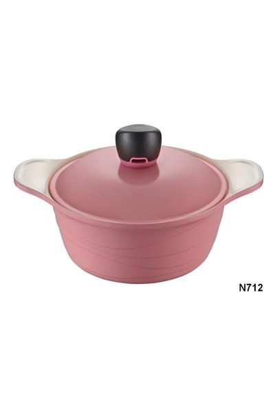 NEVA N712 Sweet Ceramica Pembe Derin Tencere 20 Cm