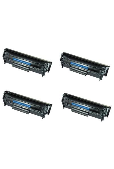 Neon Canon İ Sensys Lbp2900 Toner 4'lü Ekonomik Paket Muadil Yazıcı Kartuş