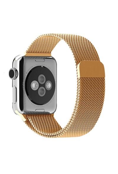 Alaca Apple Watch 38Mm Çelik Örme Mıknatıslı Kordon