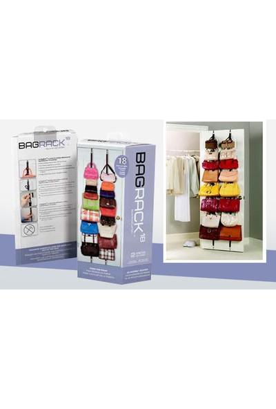 Pratik Şeyler Bag Rack Kapı Arkası Çanta Düzenleyici Bag Rack ( 2 Adet)