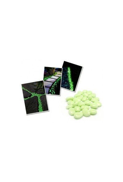 Pratik Şeyler Fosforlu Çakıl Taşları 50 Adet