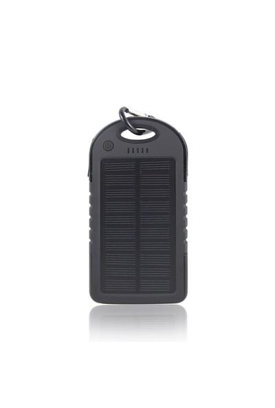 KingShark 12000 mAh Solar Powerbank Şarj Aleti Siyah