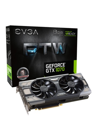 EVGA Nvidia GeForce GTX 1070 FTW Gaming ACX 3.0 8GB 256Bit GDDR5 (DX12) PCI-E 3.0 Ekran Kartı 08G-P4-6276-KR