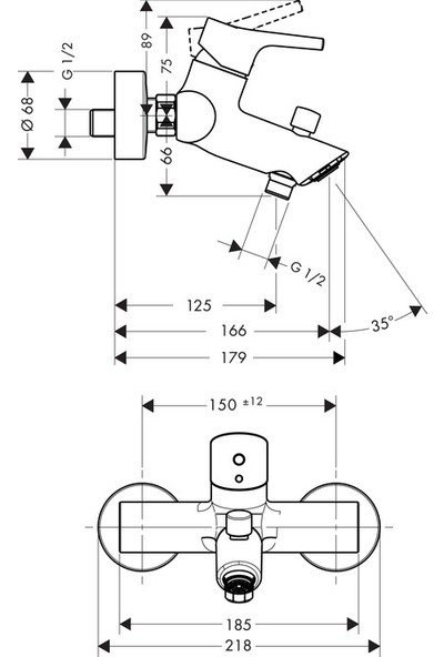 Hansgrohe Talis S Banyo Bataryası