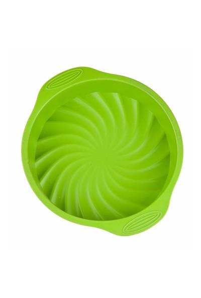 My EBİ Silikon Yuvarlak Kek Kalıbı Yeşil 29 cm