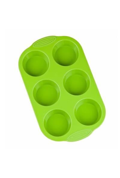 My EBİ Silikon Yeşil Muffin Kalıbı 6'lı
