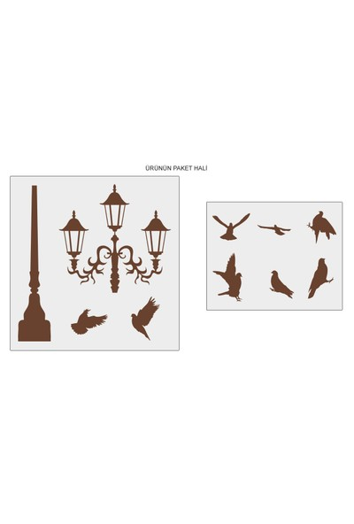 Besta Sokak Lambasında Kuşlar Duvar Sticker
