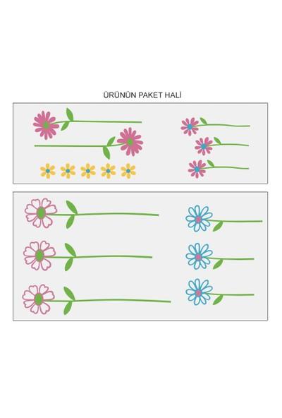 Besta Rengarenk Çiçekler Duvar Sticker