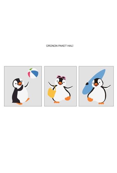 Besta Penguenler Pilajda Duvar Sticker