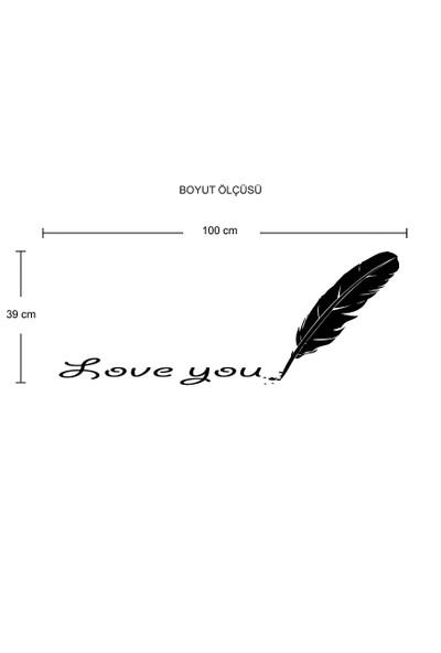 Besta Love You Duvar Sticker