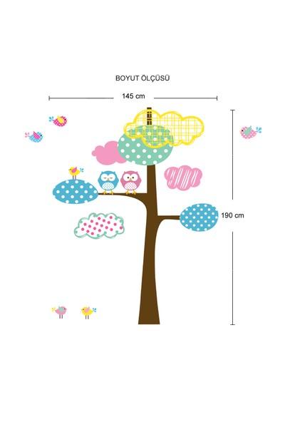 Besta Duvar Sticker Ağaç ve Baykuş